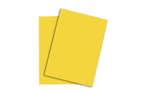 PAPYRUS Rainbow Papier FSC A4 88043128 intensivgelb, 160g...