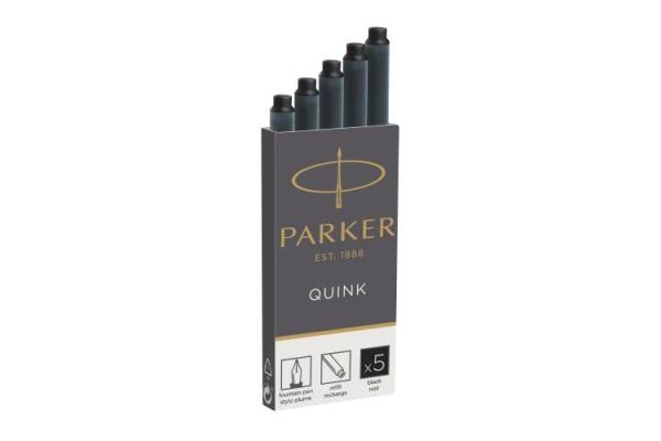 PARKER Tintenpatrone Quink Z 44 1950382 schwarz 5...