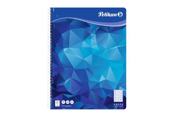 PELIKAN Spiralblock A4 100076 blau 80 Blatt liniert