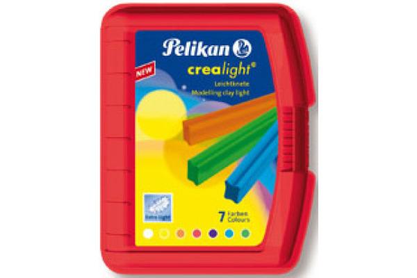 PELIKAN Knetbox Crealight 222/7R 7 Farben ass.