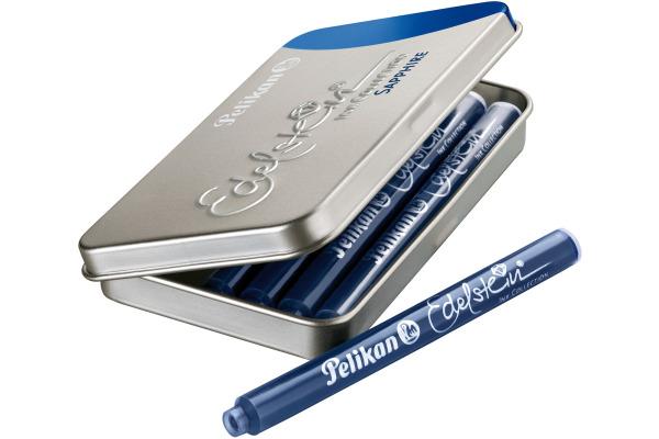 PELIKAN Tintenpatrone Edelstein 339630 blau 6 Stück