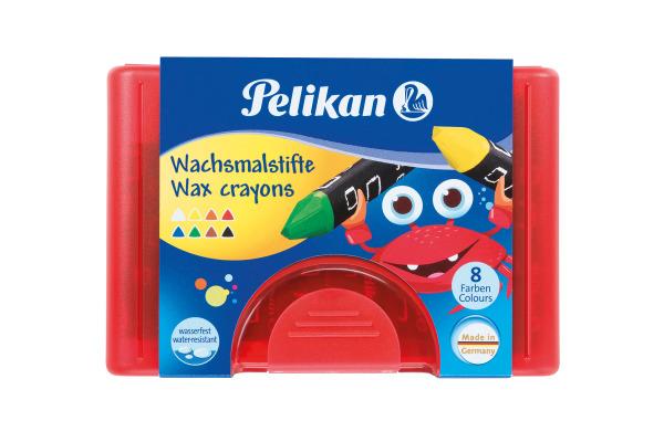 PELIKAN Wachsmaler Griffix 665 8D 8 Farben assortiert Etui
