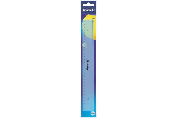 PELIKAN Lineal 30cm 700498 transparent blau