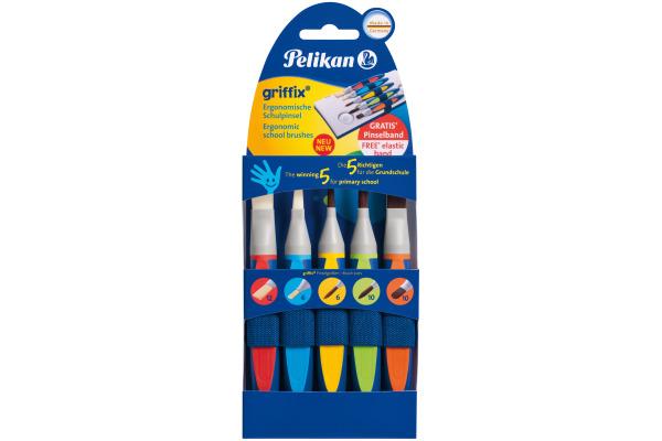 PELIKAN Pinselset Griffix 700733 5-teilig 5 Farben