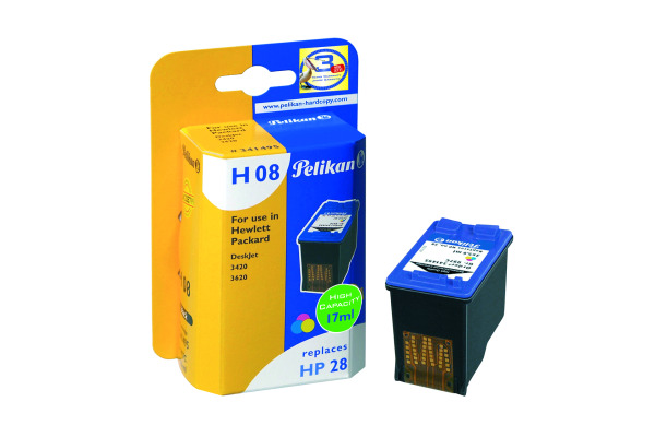 PELIKAN Tinte refill 28 H08 color C8728AE zu HP DeskJet 3320 3x5.6ml