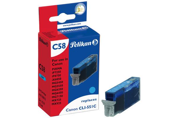 Pelikan Tinte 4110015 ersetzt Canon CLI-551C XL, cyan