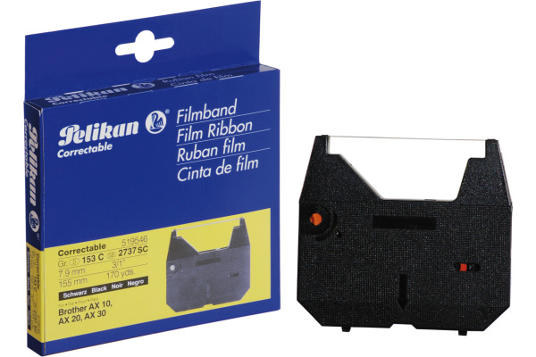 PELIKAN Farbband correctable schwarz Gr.153C zu Brother AX 10 7.9mm/155m