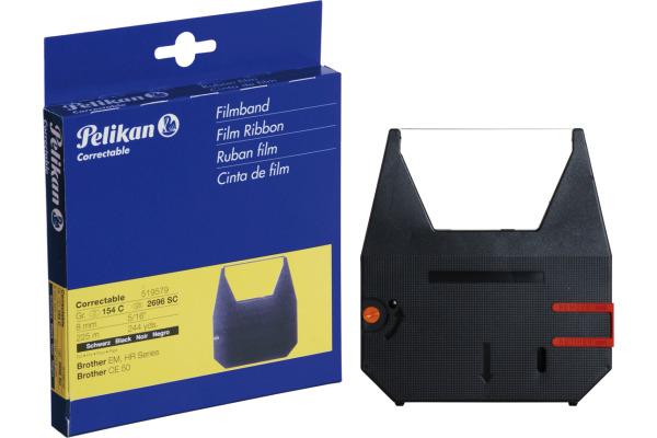 PELIKAN Farbband correctable schwarz Gr.154C zu Brother CE 50 8mm/225m