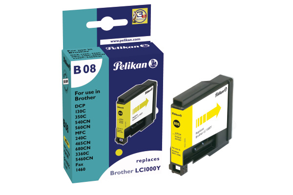 PELIKAN Tintenpatrone B08 yellow LC-1000Y zu Brother MFC-240C