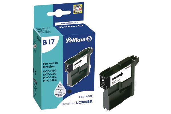 PELIKAN Tintenpatrone B17 schwarz LC-980BK zu Brother MFABER-CASTELL-290C 10ml