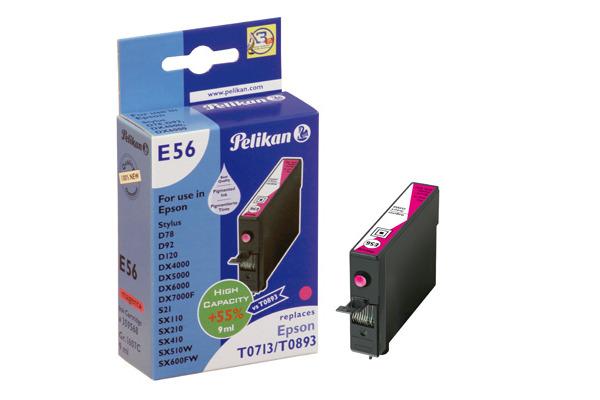 PELIKAN Tintenpatrone E56 magenta T071340 zu Epson Stylus D78 9ml
