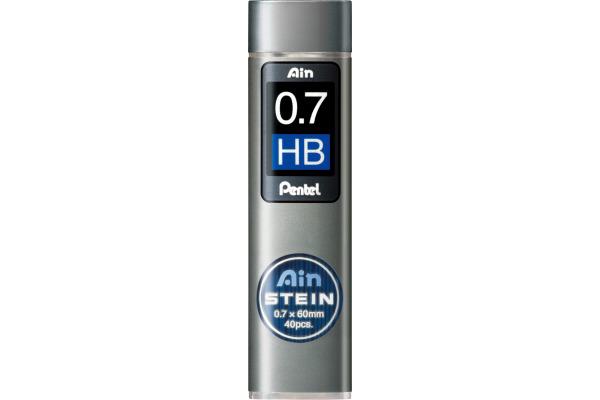 PENTEL Bleistiftmine AINSTEIN 0.7mm C277-HBO schwarz 40...