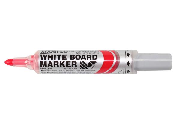PENTEL Whiteboard Marker 6mm MWL5M-BO rot