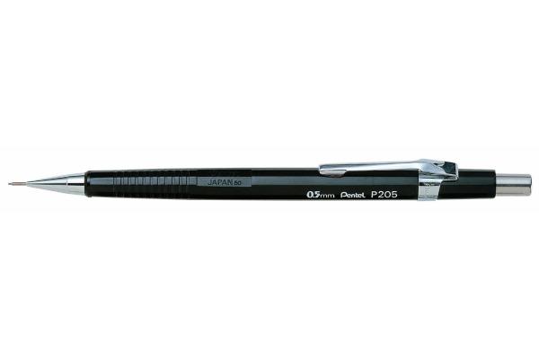 PENTEL Druckbleistift Sharp 0.5mm P205A schwarz mit Radiergummi