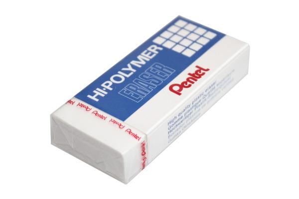 PENTEL Radierer Hi-Polymer ZEH-20 weiss 73x33x13,5mm