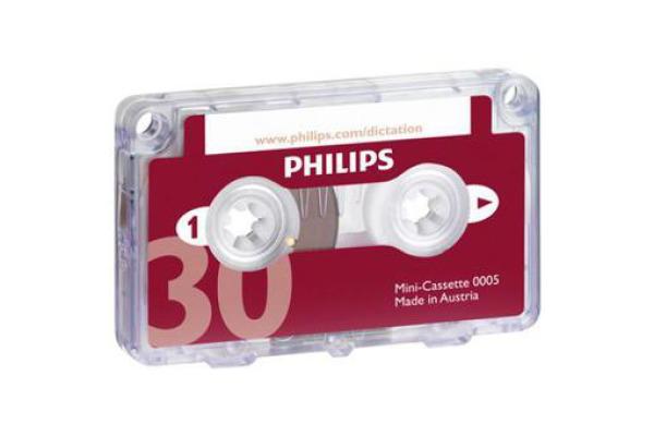 PHILIPS Minikassette Diktiergerät LFH0005 DIN 0005 2x15 Min. 1 Stück