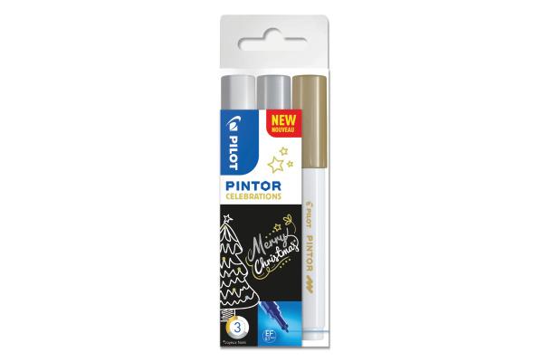 PILOT Marker Pintor X-MAS S3/0537526 gold, silber, weiss...