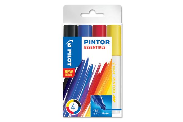 PILOT Marker Set Pintor Essentials M S4/0537533 4 Farben