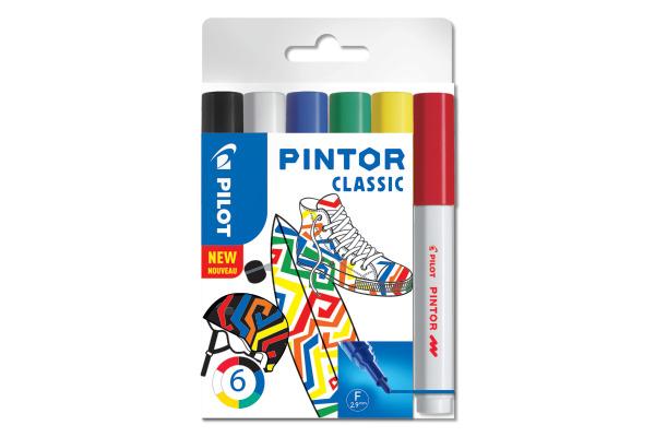 PILOT Marker Pintor Set Standard F S6/051740 6 Stifte