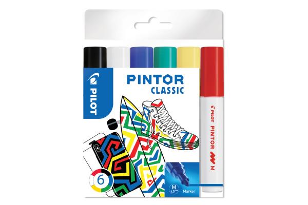 PILOT Marker Set Pintor M S6 0517412 6 Farben standard