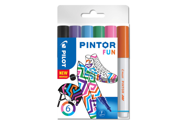 PILOT Marker Pintor Set Fun F S6/051742 6 Stifte