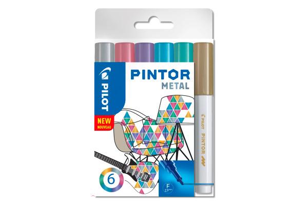 PILOT Marker Set Pintor 1.0mm S6 0517443 6 Farben metallic