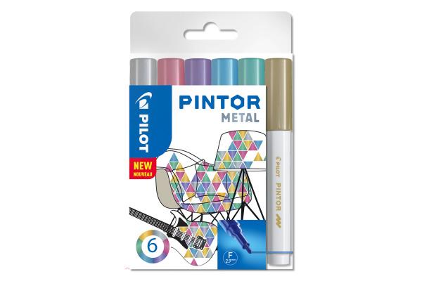 PILOT Marker Pintor Set Metallic M S6/051745 6 Stifte