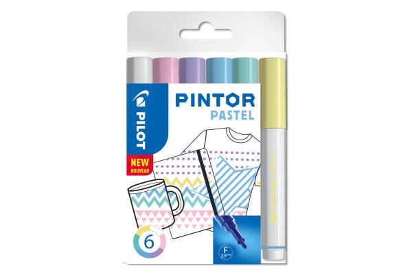 PILOT Marker Pintor Set Pastell M S6/051747 6 Stifte
