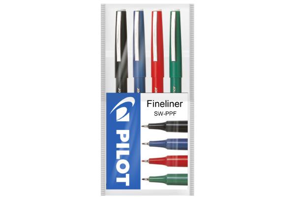 PILOT Fineliner 0,4mm SW-PPF-S4 4 Farben Etui