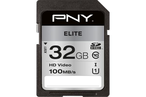 PNY Elite SDHC Card R100MB/s 32GB PSD32GU11