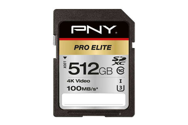 PNY Pro Elite 512GB SDXC Card PSD512U31 R100MB s W90MB s