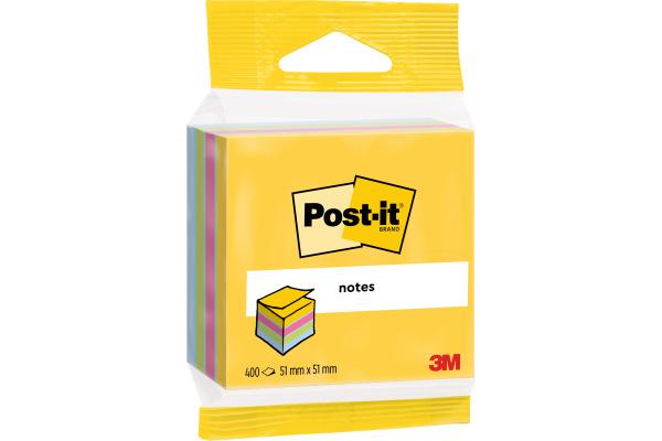 POST-IT Mini Cube multicol. 51x51mm 2012-MUC 4 Farben...