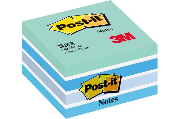 POST-IT Würfel 76x76mm 2028-B blau/450 Blatt