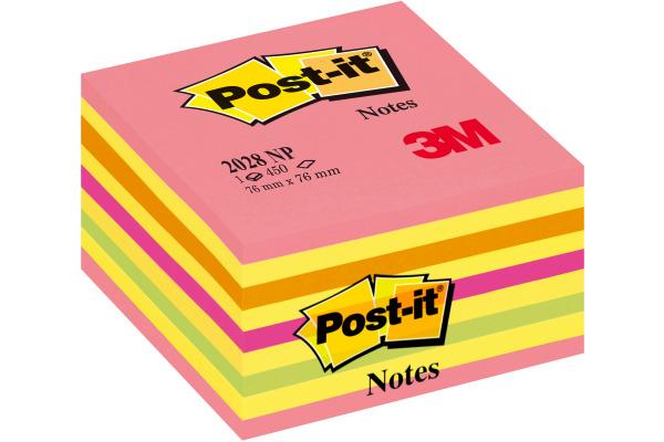 POST-IT Würfel 76x76mm 2028-NP neon pink 450 Blatt