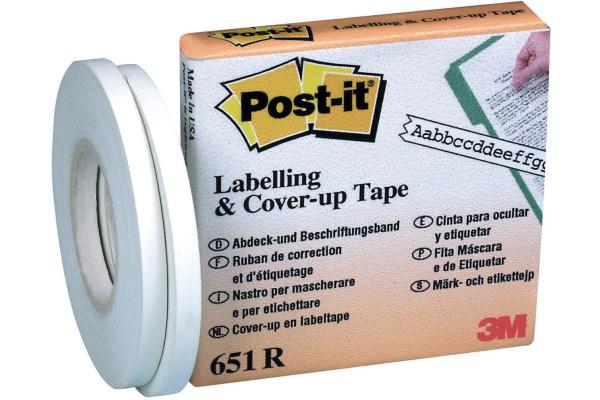POST-IT Abdeck- und Beschriftungsband 651-R weiss, refill 4mmx17.7m 2 St.