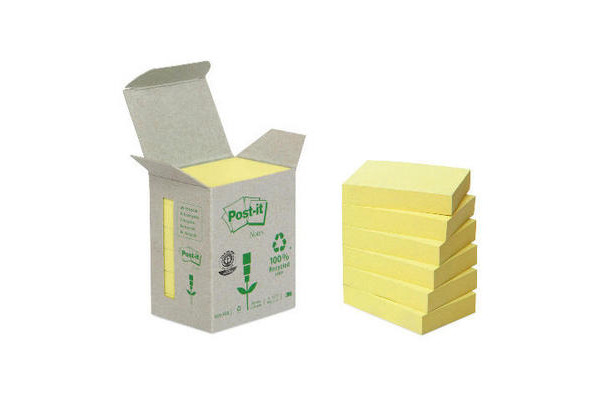 POST-IT Haftnotizen Recycling 38x51mm 653-1B gelb 6x100 Blatt