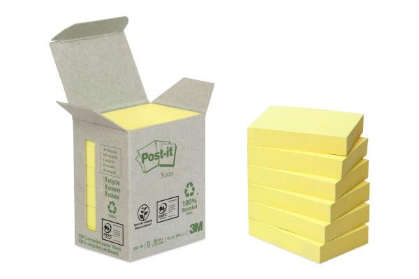 POST-IT Haftnotizen Recycling 38x51mm 653-1B gelb 6x100...