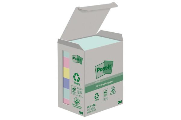 POST-IT Haftnotizen Recycling 38x51mm 653-1GB rainbow...