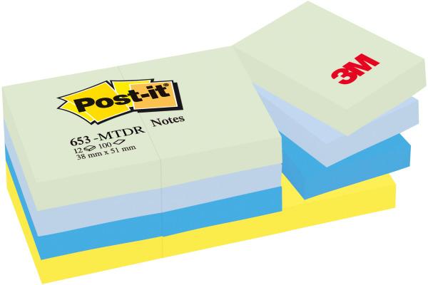 POST-IT Dream 38x51mm 653-MTDR 4-farbig assortiert 12x100...