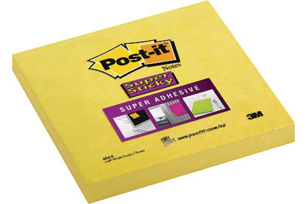 POST-IT Block Super Sticky 76x76mm 654-S gelb/100 Blatt