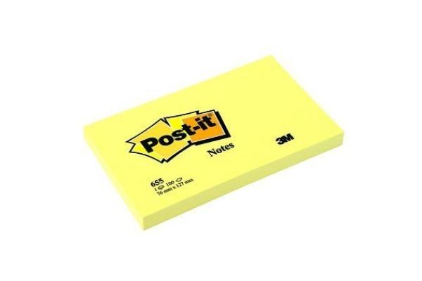 POST-IT Haftnotizen Recycling 127x76mm 655-1 gelb, 100 Blatt