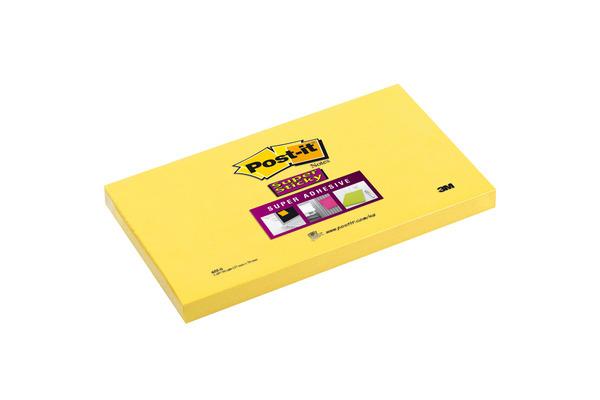 POST-IT Block Super Sticky 76x127mm 655-S gelb 100 Blatt