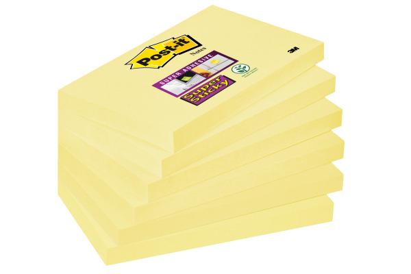POST-IT Notes Super Sticky 76x127mm 6556SSCY gelb 6x90 Blatt