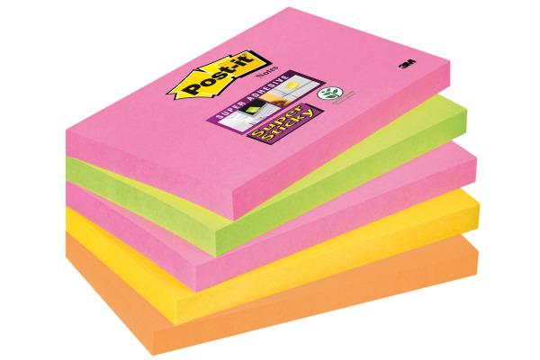 POST-IT Block Super Sticky Cape Town 655S-N 4-farbig,...