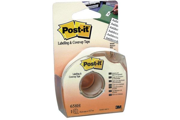 POST-IT Abdeckband 25mmx17.7m 658H weiss auf Abroller