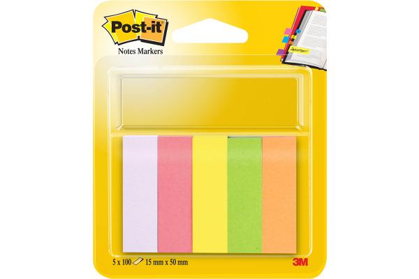 POST-IT Marker 15x50mm 670 5 5-farbig 5x100 Blatt