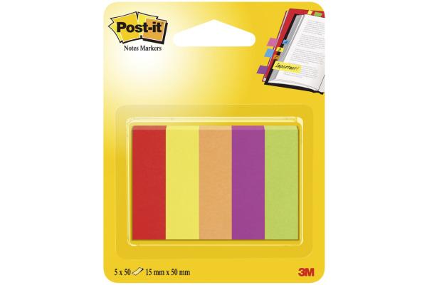 POST-IT Page Marker 12,7x44,4mm 670-5JA 5 Farben 5x50...