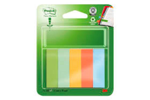 POST-IT Page Marker Recycling 50x15mm 670-5R 5 Farben 5x100 Streifen