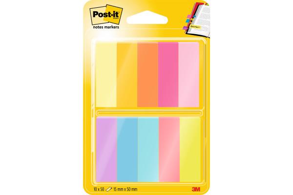 POST-IT Papiermarker 44.4x12.7mm 67010ABEU 10-farbig, 10x50 Blatt
