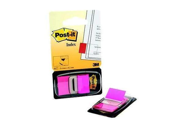 POST-IT Index Tabs 25,4x43,2mm 680-21 pink 50 Tabs